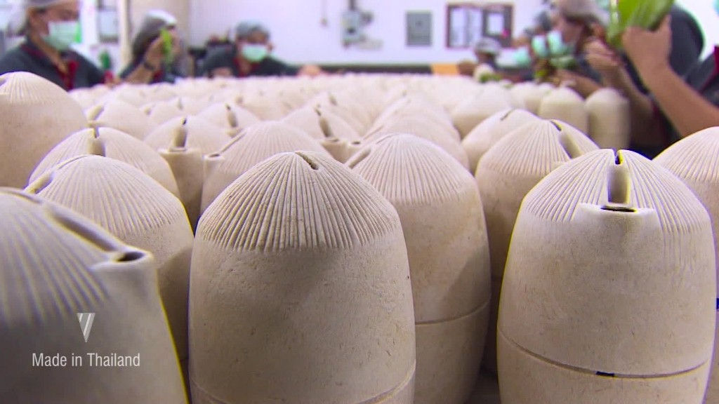 Questo imballaggio privo di rifiuti è realizzato in bambù