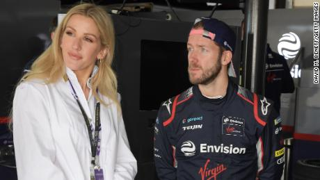 Goulding con il pilota di Envision Virgin Racing Sam Bird a Marrakech.