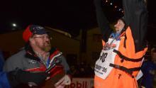 Waerner alzò le braccia trionfalmente dopo aver vinto.