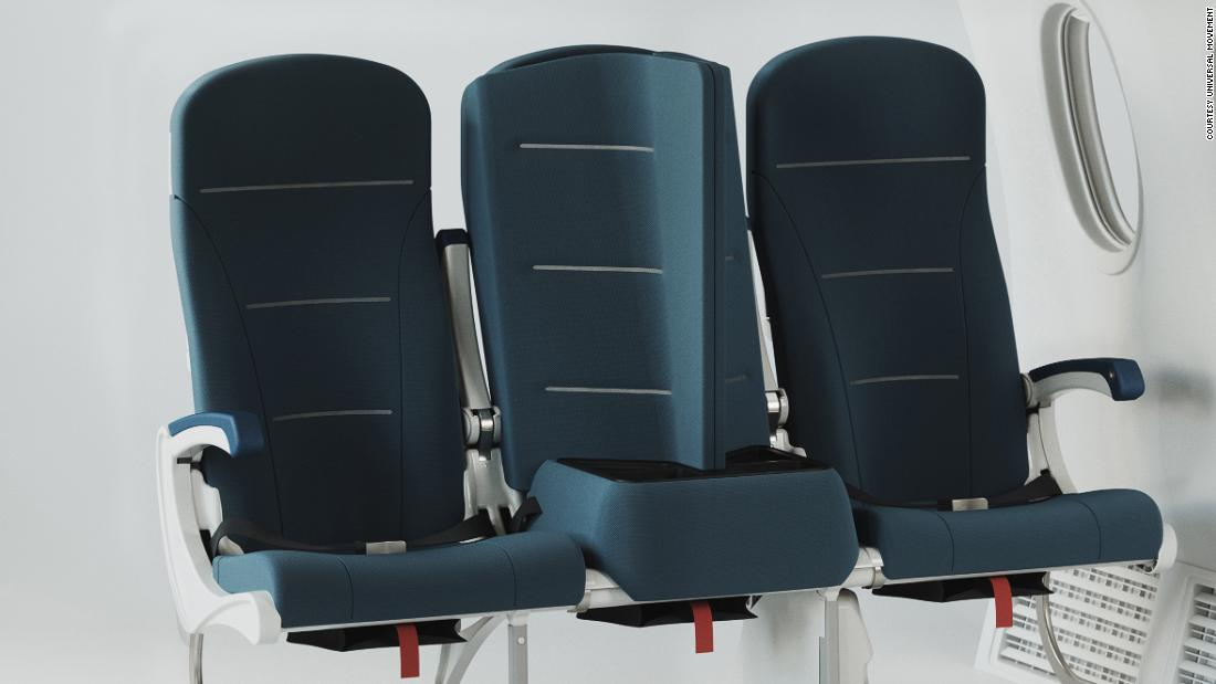 Sedile per aeroplano socialmente distante progettato per farti dimenticare la pandemia