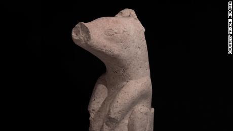 Scultura in pietra rinvenuta ad Aguada Fenix risalente al 1000-700 a.C. C.