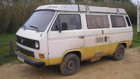 La polizia afferma che il sospettato ha avuto accesso a questo camper e che è stato utilizzato nei dintorni di Praia da Luz.
