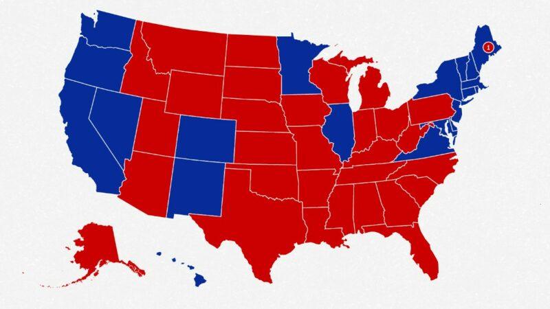 La mappa elettorale si appoggia male contro Donald Trump proprio ora