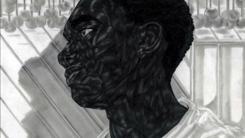 L'artista Toyin Ojih Odutola nel disegnare intricati ritratti di vita nera