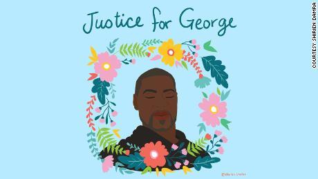 & # 39; Le mie emozioni erano così grezze: le persone che creavano arte per ricordare George Floyd